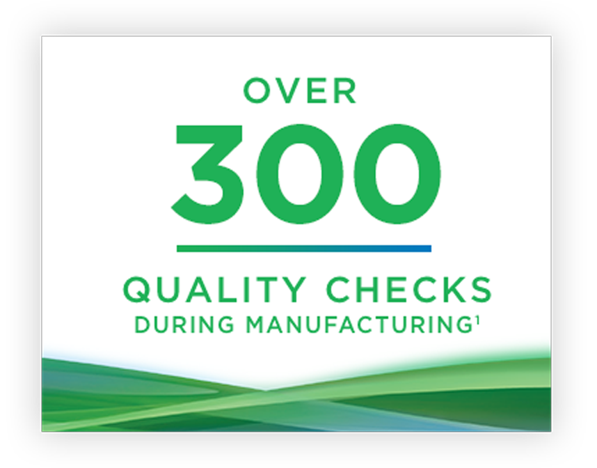 300 quality checks during manufacturing